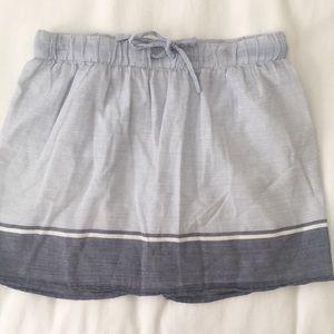 J. Crew Blue and White Striped Skirt XXS